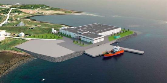 <span><span><span><span><span>Visionsbild över den nya laxodlingen som ska byggas i Dåfjord i Karlsøy kommun (bilden är en illustration).</span></span></span></span></span>
