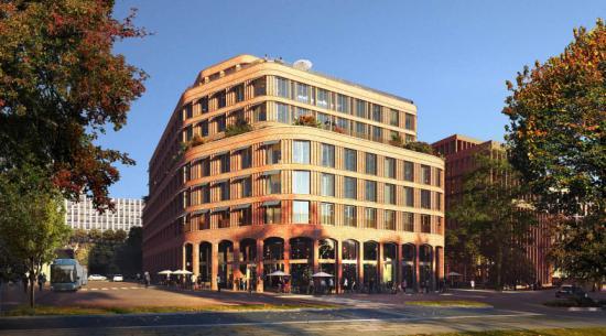 Det nya hotellet blir en portalbyggnad och en självklar destination i Hagastaden (bilden är en illustration).