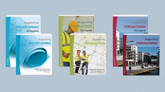 Omslag till samliga böcker inom serien Byggledning.