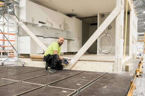 Hustillverkning i Borås.