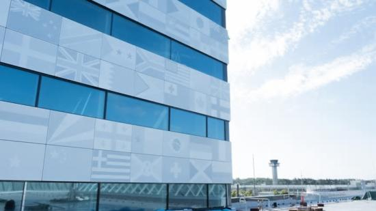 22 000kilo plåt kommer pryda fasaden på hotellet i Landvetter.