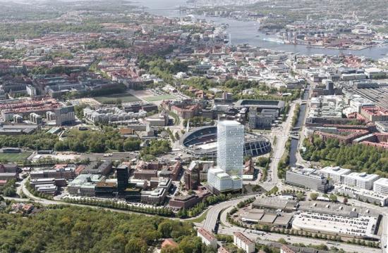 Flygbild över Skanskas Citygate.