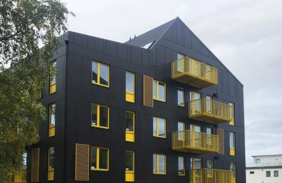 Getinghusen, som husen kallas i folkmun, i stadsdelen Lilla Träslöv har ritats av Arkitema Architects.