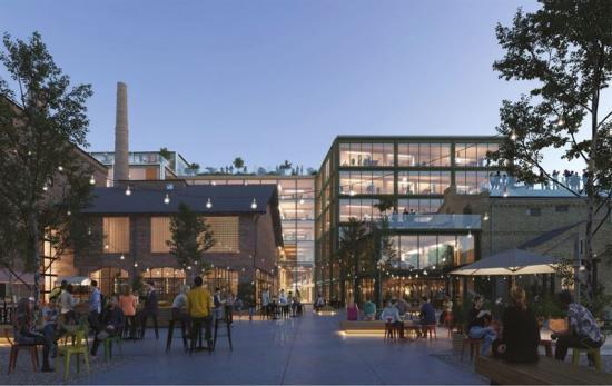 Visionsbild över kvarteret Kimmel i Riga (bilden är en illustration).