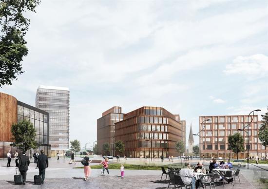 Visionsbild Gränbystaden Östra Sala backe.