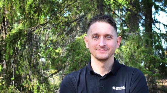 Aleksandar Milosevic, ansvarig för yrkesklättrarna på Klätterteknik.