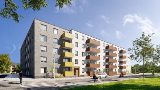 3D-visualisering av bostäderna på Södra Gränstorp (bilden är en illustration).