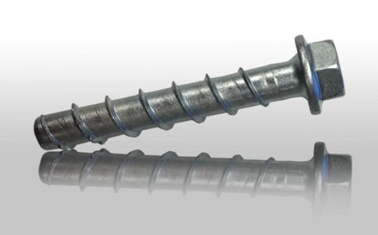 Fischers betongskruv Ultracut FBS II 12 mm gör montagearbetet snabbare.
