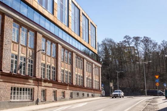 Trikåfabriken är ett påbyggnadsprojekt mitt i Hammarby Sjöstad.