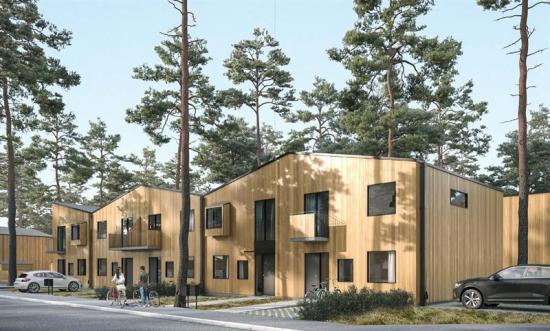 Visionsbild över bostadsområdet Täppe (bilden är en illustration).