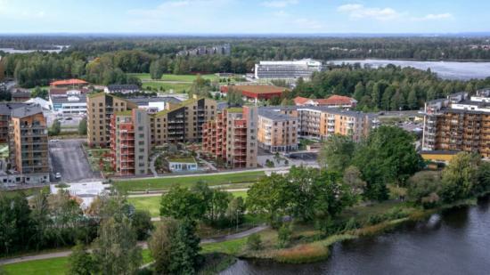 Midroc Properties utvecklar flera bostadsprojket i Växjö, varav Kvarteret Biologen är ett (bilden är en illustration).