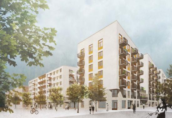 ByggVesta utvecklar nytt kvarter i Barkarbystaden med 260 lägenheter och kommersiella lokaler på gångavstånd till grundskola, förskola, handel, service och Barkarbystadens kommande tunnelbana.