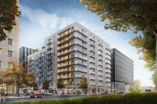 Projektet Link Järva Krog som byggs i Solna, kommer se ut så här när det är färdigställt (bilden är en illustration).