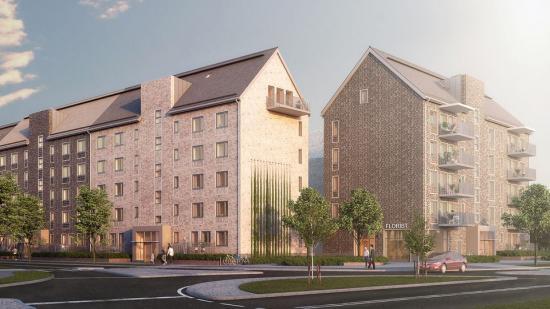 AF Bygg Göteborg ska bygga 143 nya bostäder i stadsdelen Backa i Göteborg på uppdrag av Riksbyggen (bilden är en illustration).