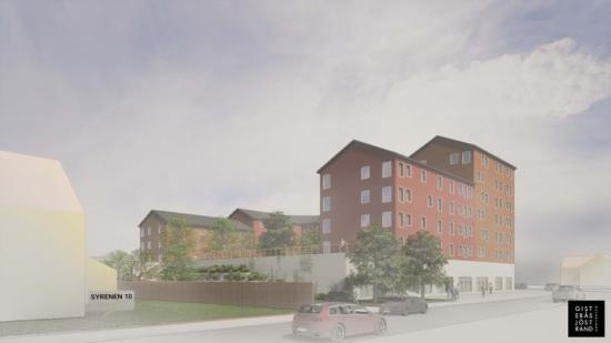 Ny detaljplan för cirka 70 nya lägenheter vid korsningen Backenvägen och Grubbevägen (bilden är en illustration).