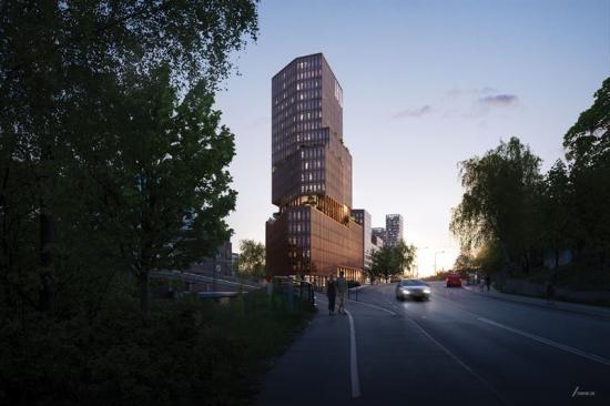 Projektet på Sickla Värmdövägen.