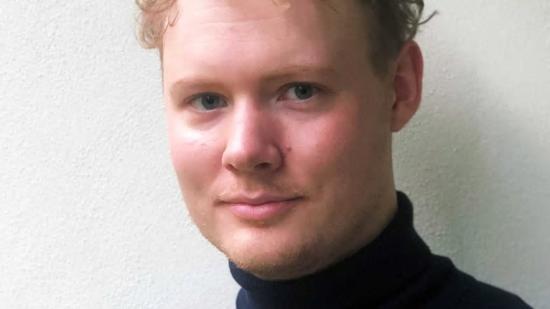 Erik Jansson vann pris för sitt examensarbete.