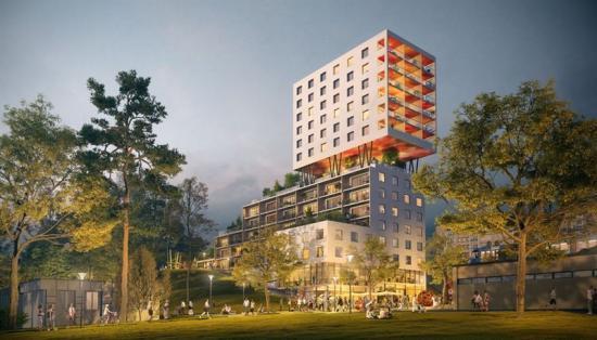 Hagsätra hubb av Belatchew Arkitekter och Sveafastigheter Bostad