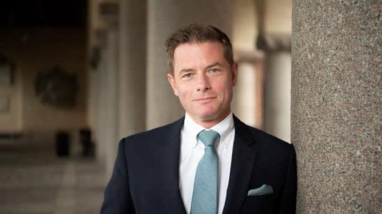 Joakim Larsson (M), ordförande för stadsbyggnadsnämnden i Stockholms stad.