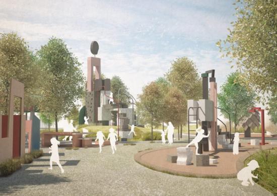 Utflyktslekplatsen i Jubileumsparken ska vara en plats att minnas, som gör avtryck och där det alltid finns mer att upptäcka.