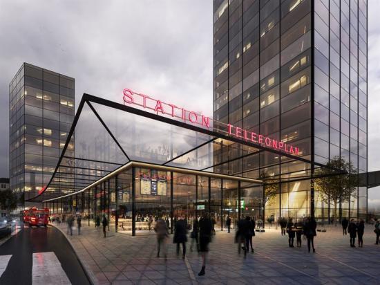 Illustration över hur Tellus station i Telefonplan kan komma att se ut när projektet är färdigställt.