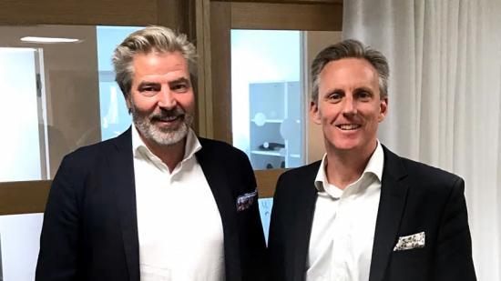 Ulf Wallén, VD Acrinova (t.v.) & Andreas Meyer, VD Skåneporten fastigheter.