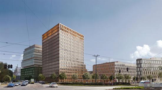 Visionsbild över kontorskomplexet Nowy Rynek (bilden är en illustration).