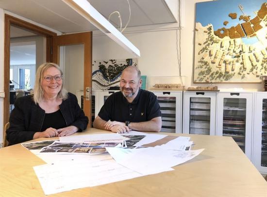 Britt Almqvist, VD och expert, och Samuel Raitio, ansvarig teknikområde arkitektur.