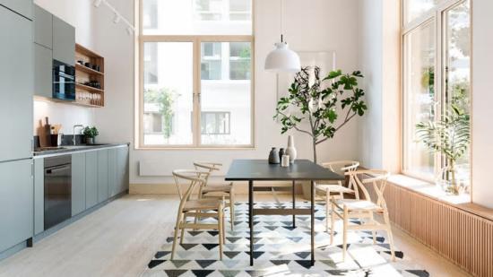 Tanken bakom designen av inredningen är att den ska gå hand i hand med husets omgivningar(bilden är en illustration).