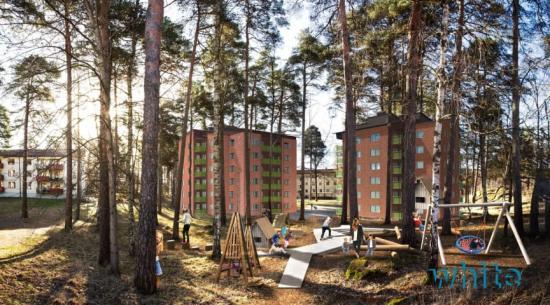 På Skallberget, Västerås, byggs 64 nya hyresrätter med start våren 2020 (bilden är en illustration).