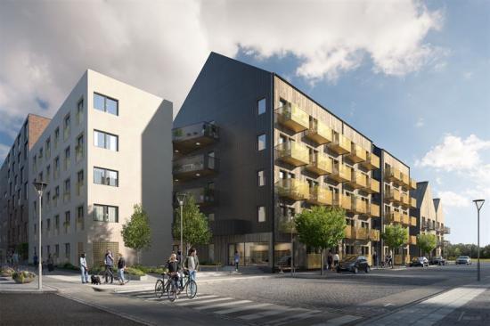 Visionsbild över projekt Startbanan i Örebro (bilden är en illustration).
