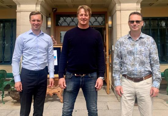 Fr. vänster: Gustaf Larsson Ernefelt, Stefan Olsson och Ulf Bergquist.