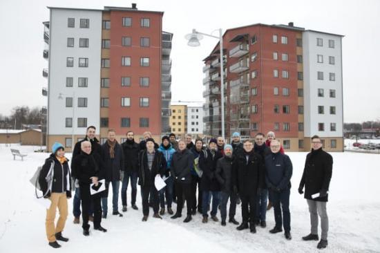 Eurhonet är ett nätverk av europeiska bostadsbolag som i februari besökte Västerås och Bostads AB Mimer.