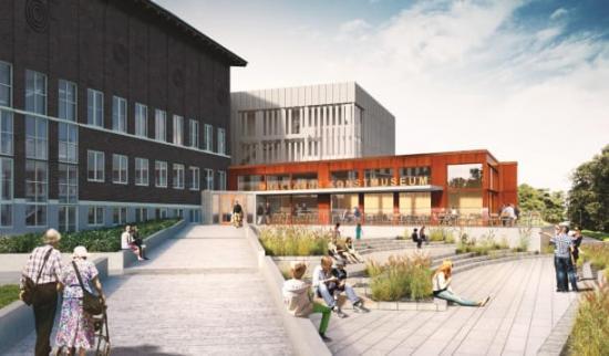 Hallands konstmuseum när det står färdigt, juni 2019.