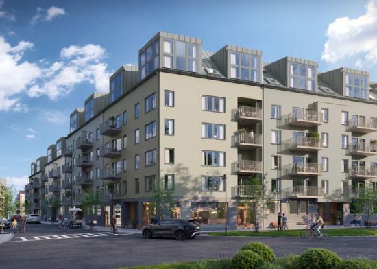 115 bostadsrätter nära Sollentuna centrum och Edsvikens badplatser och båtbryggor (bilden är en illustration).