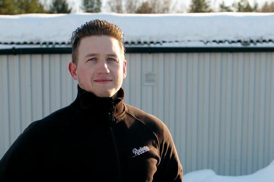 Emil Berggren, filialchef på Radiator VVS Hudiksvall, berättar för Byggnorden att företaget sparat både tid och pengar med Ease Smart Lock från Infobric.