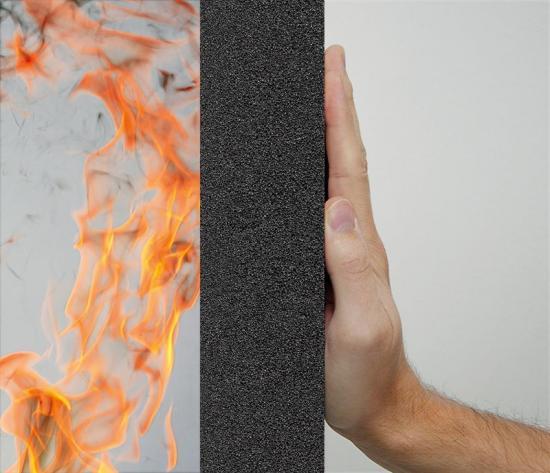 FOAMGLAS® cellglasplattorhar den högsta europeiska klassificeringenför brandskydd och fungerar som brandisolering genom att innesluta branden lokalt.