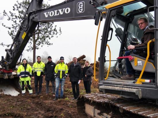 Representanter från Vara bostäder och Grävtjänst i Götene.