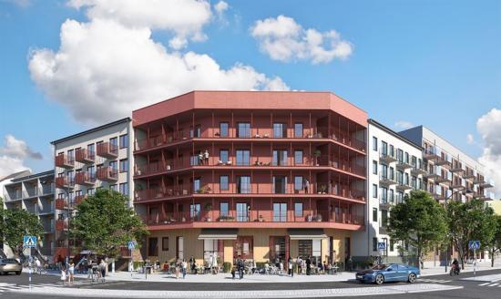 Husen är ritade av Arkitema architects och säljs av Magnolia Bostad. Heimstaden Bostad är köpare (bilden är en illustration).