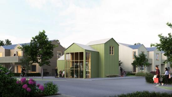 Visionsbild över kvarteret Molnet (bilden är en illustration).