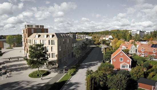 Den nya stadsdelen, vy från gatan (bilden är en illustration).