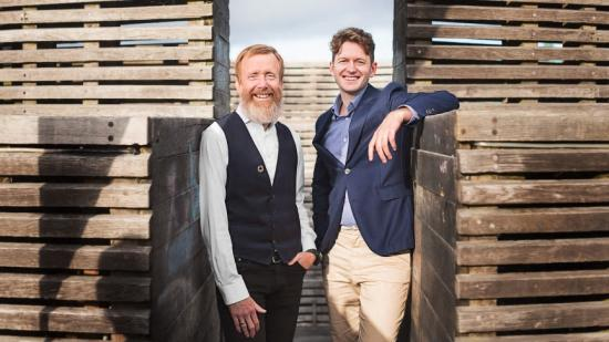 Per Olsson och Alexander Landborn driver LINK Arkitekturs hållbarhetsarbete.