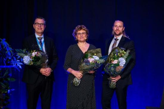 <span><span><span><span>Vinnarna av Sigge Thernwalls pris 2020. Joakim Jeppsson, Georgia Destouni och Thomas Blanksvärd.</span></span></span></span>