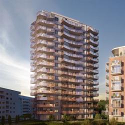 85 nya lägenheter kommer rymmas i den nya fastigheten i kv. Luna på Ringstorp i Helsingborg (bilden är en illustration).