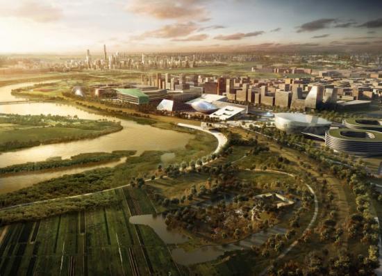 Hållbara lösningar och klimatanpassning står i centrum när Sweco är med och planerar en helt ny stad i Kina.