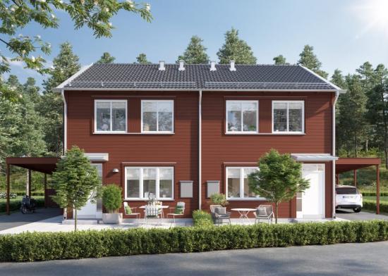 Brf Koltrastenkommer beståavbåde bostadsrätter och äganderätter(bilden är en illustration).