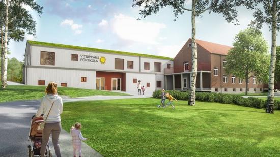 Så här kan Vitsippans förskola se ut när ombyggnationen är klar (bilden är en illustration).