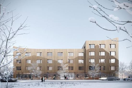<span><span><span><span>80 lägenheterom 32 kvadratmeter kommer rymmas i den 6 300 kvadratmeter stora fastigheten (bilden är en illustration).</span></span></span></span>