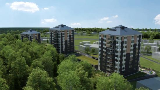 I naturnära Tröinge Ängar planerar HSB Göta bygga totalt 95 lägenheter (bilden är en illustration).