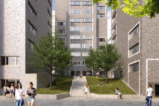 Arkitema har vana av att jobba med studentbostäder, så som med Campus Lappis(bilden) för byggherre Stockholms Studentbostäder.
